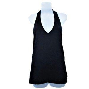 CITY DKNY black halter backless knit top M